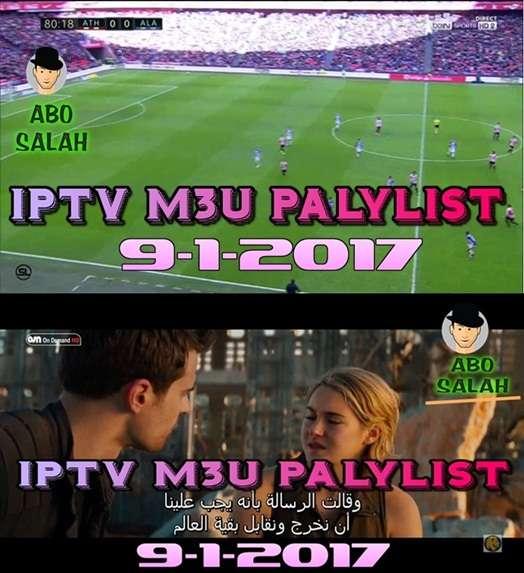 جديد IPTV لجميع أجهزة الاستقبال بصيغة ليوم 9/1/2017