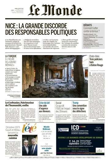 Le Monde du Mardi 19 Juillet 2016