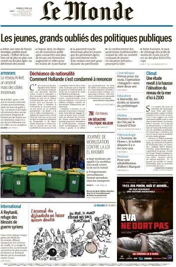 Le Monde du Vendredi 1 Avril 2016