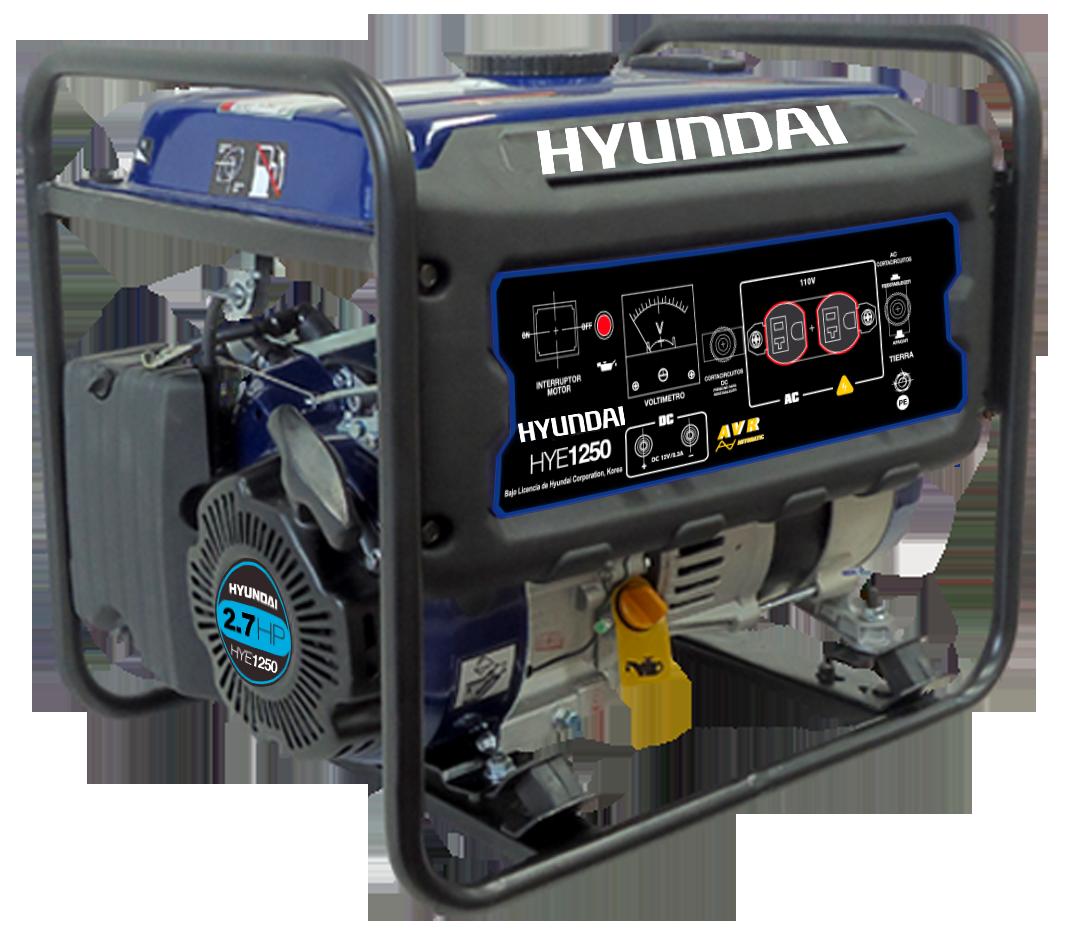 Generador A Gasolina Hyundai 1250watts 110v HYE1250