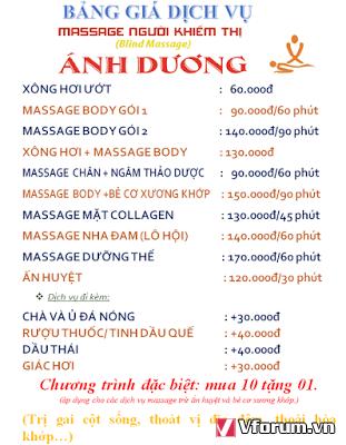 Massage  người mù Ánh Dương 2