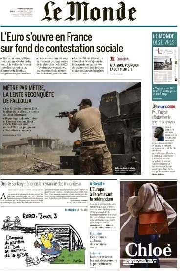 Le Monde du Vendredi 10 Juin 2016