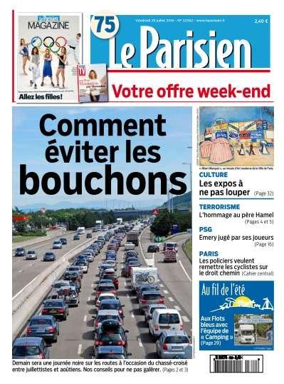 Le Parisien du Vendredi 29 Juillet 2016