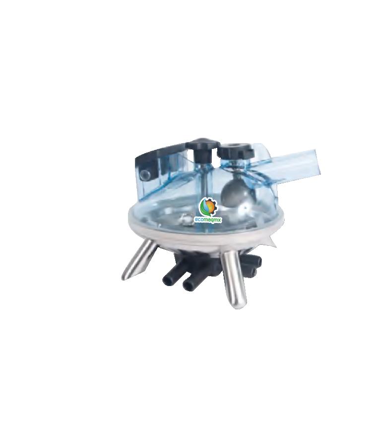 Refaccion Para Ordeñadora Colector Plastico 240cc Ecomaqmx