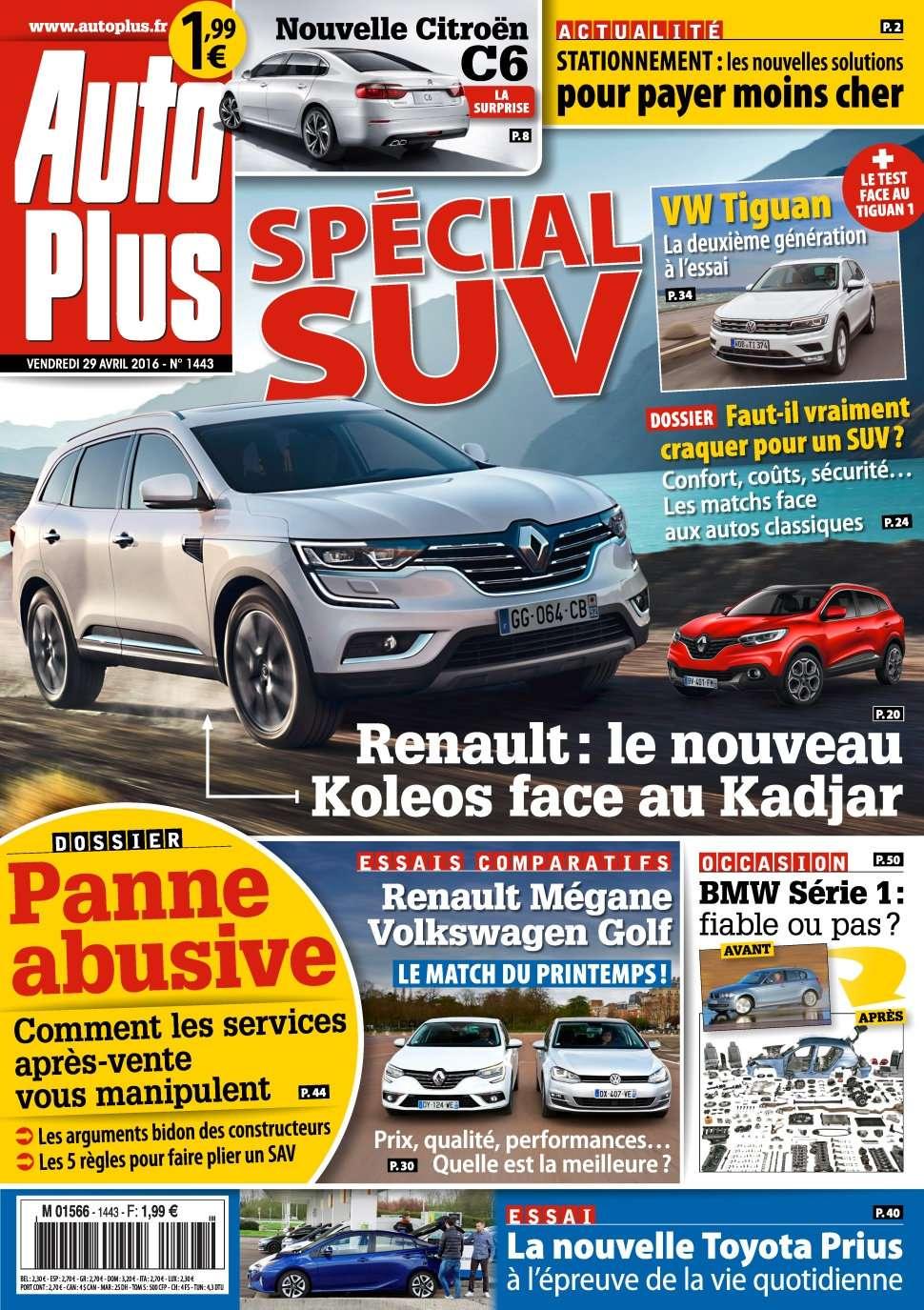 Auto Plus 1443 - 29 Avril au 5 Mai 2016