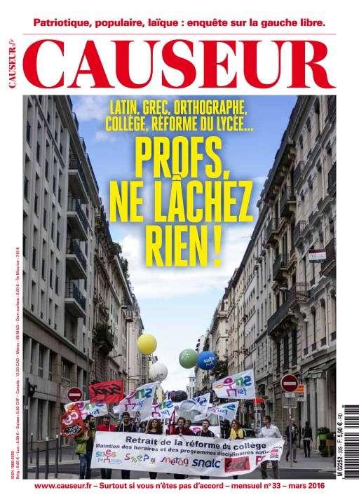 Causeur - Mars 2016