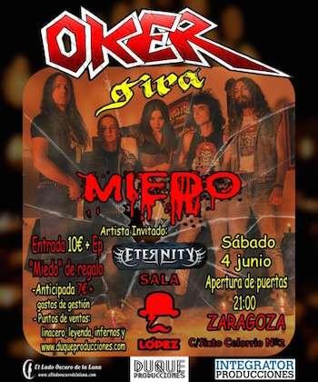 Oker + Eternity cartel zaragoza