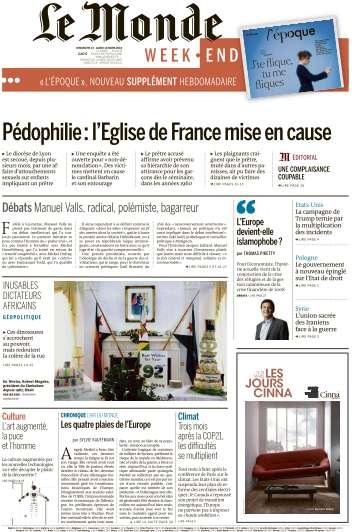 Le Monde du Dimanche 13 et Lundi 14 Mars 2016