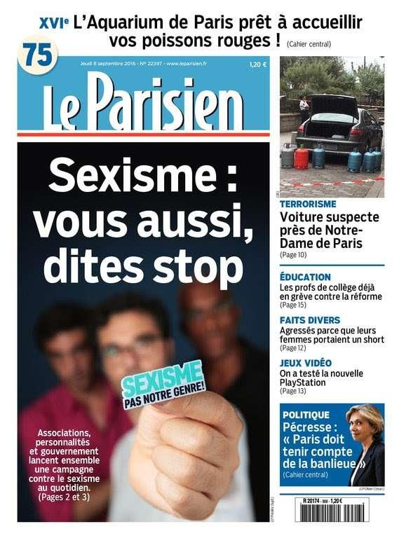 Le Parisien et Journal de Paris du Jeudi 8 Septembre 2016
