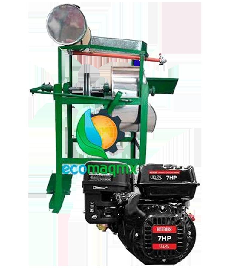 Molino Nixtamal Ecomaqmx Motor Gasolina 7hp Piedra #5 A/inox