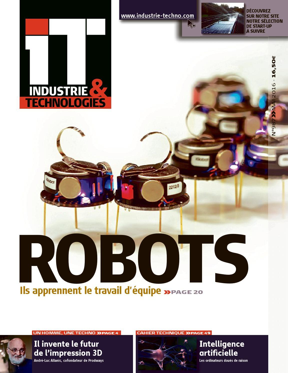IT. Industrie&Technologies - Mai 2016