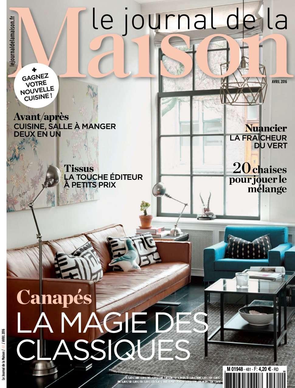Le Journal de la Maison 481 - Avril 2016