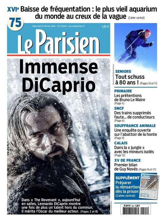 Le Parisien + Journal de Paris du Mercredi 24 Février 2016