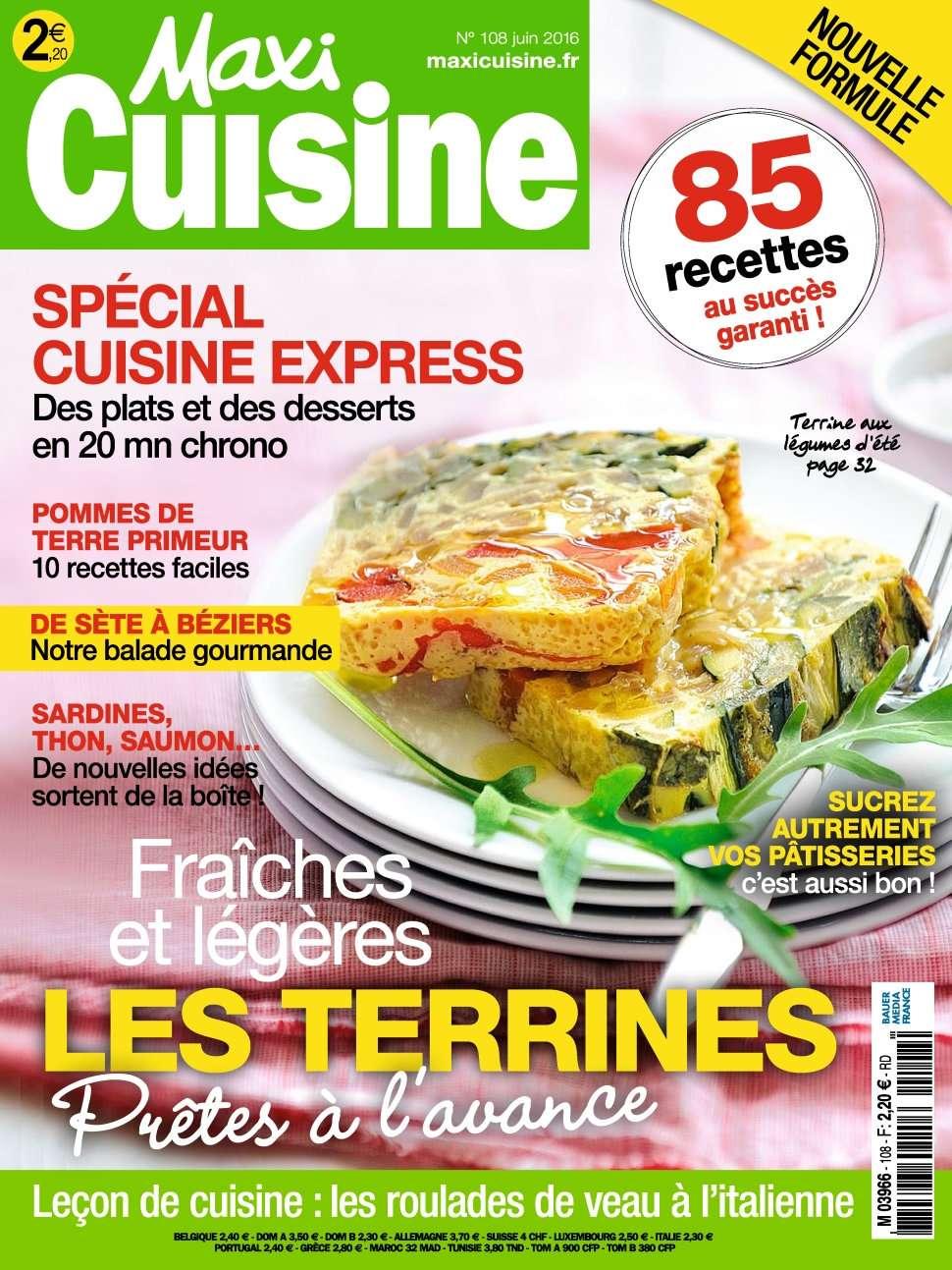 Maxi Cuisine 108 - Juin 2016