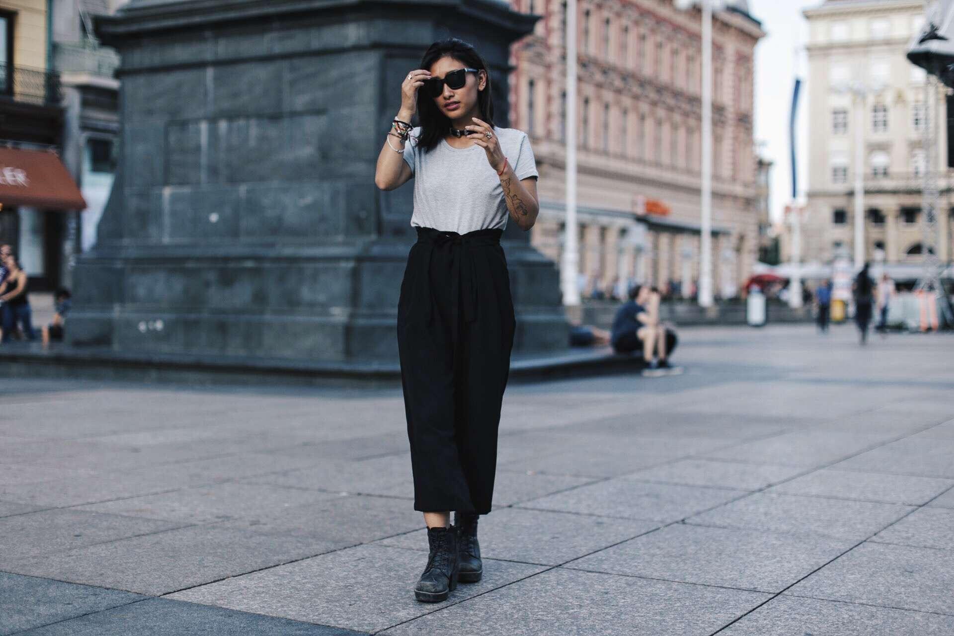 pantalon taille haute zara