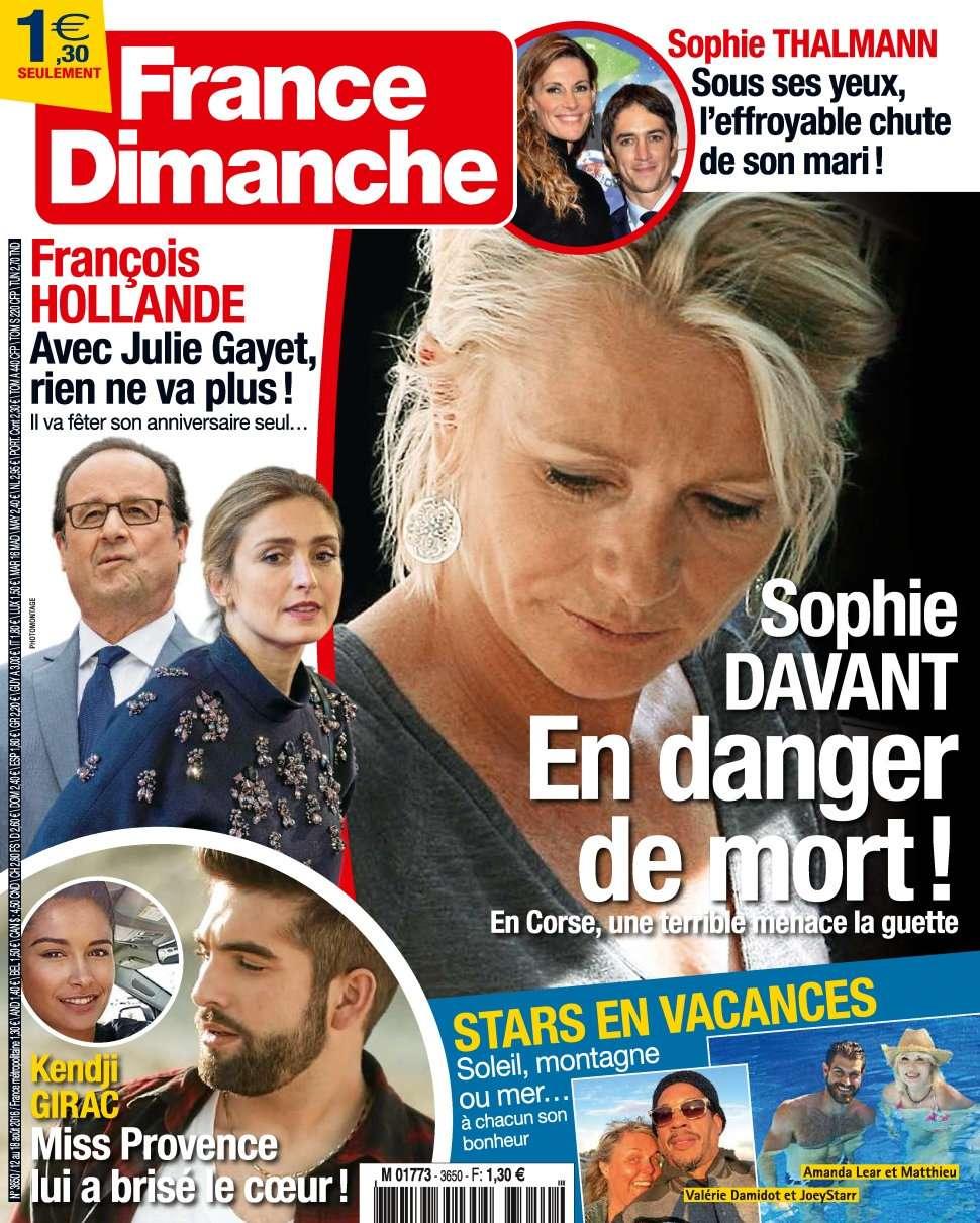 France Dimanche 3650 - 12 au 18 Août 2016