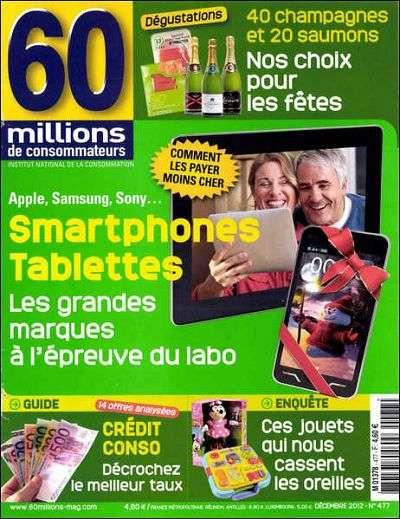 60 Millions De Consommateurs 477 - les smartphones et tablettes