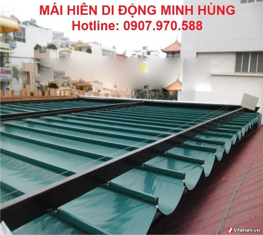 Làm bạt mái xếp tại quận 2, Sài Gòn, Bình Dương giá rẻ