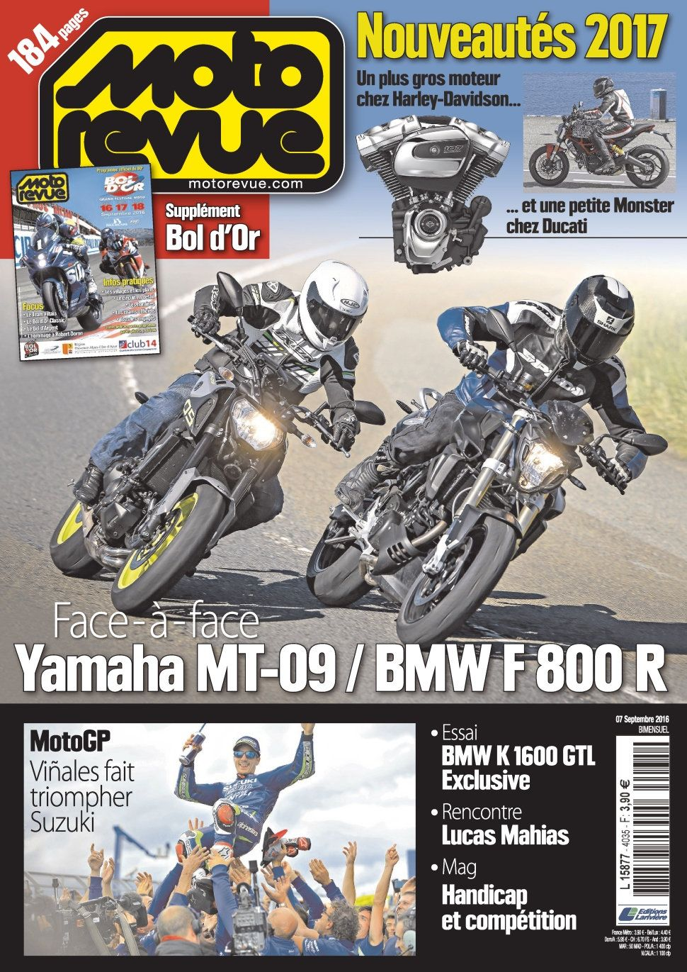 Moto Revue 4035 - 7 Septembre 2016