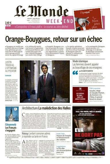 Le Monde du Dimanche 3 et Lundi 4 Avril 2016