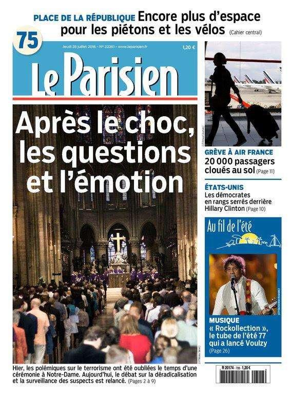 Le Parisien et Journal de Paris du Jeudi 28 Juillet 2016