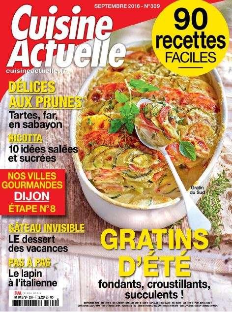 Cuisine Actuelle 309 - Septembre 2016