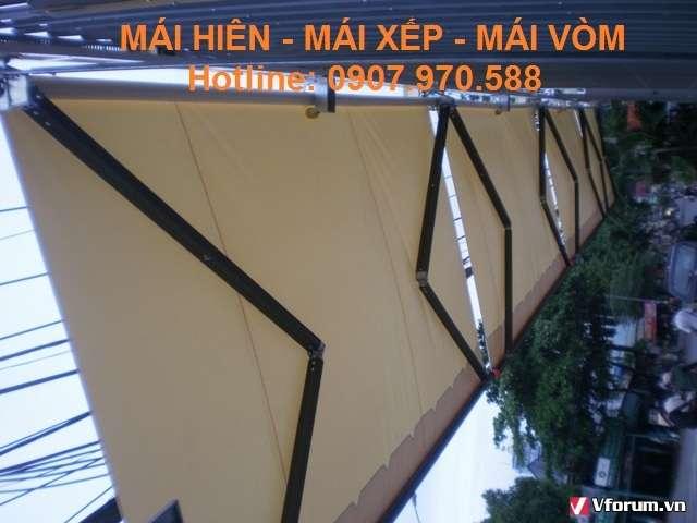 Mái hiên di động quận Bình Thạnh, Tân Phú che nắng tốt, giá rẻ