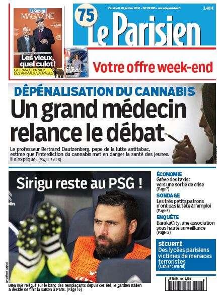Le Parisien + Journal de Paris du Vendredi 29 Janvier 2016