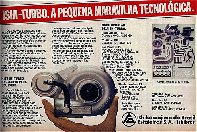 Kit Ishi-Turbo. A pequena maravilha tecnológica. Exclusivo para seu Ford.