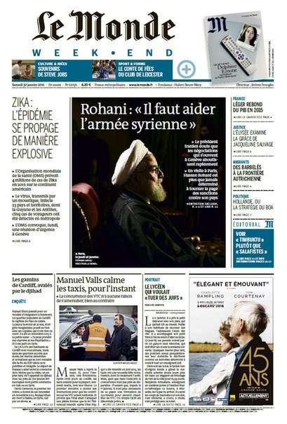 Le Monde week-end du Samedi 30 Janvier 2016