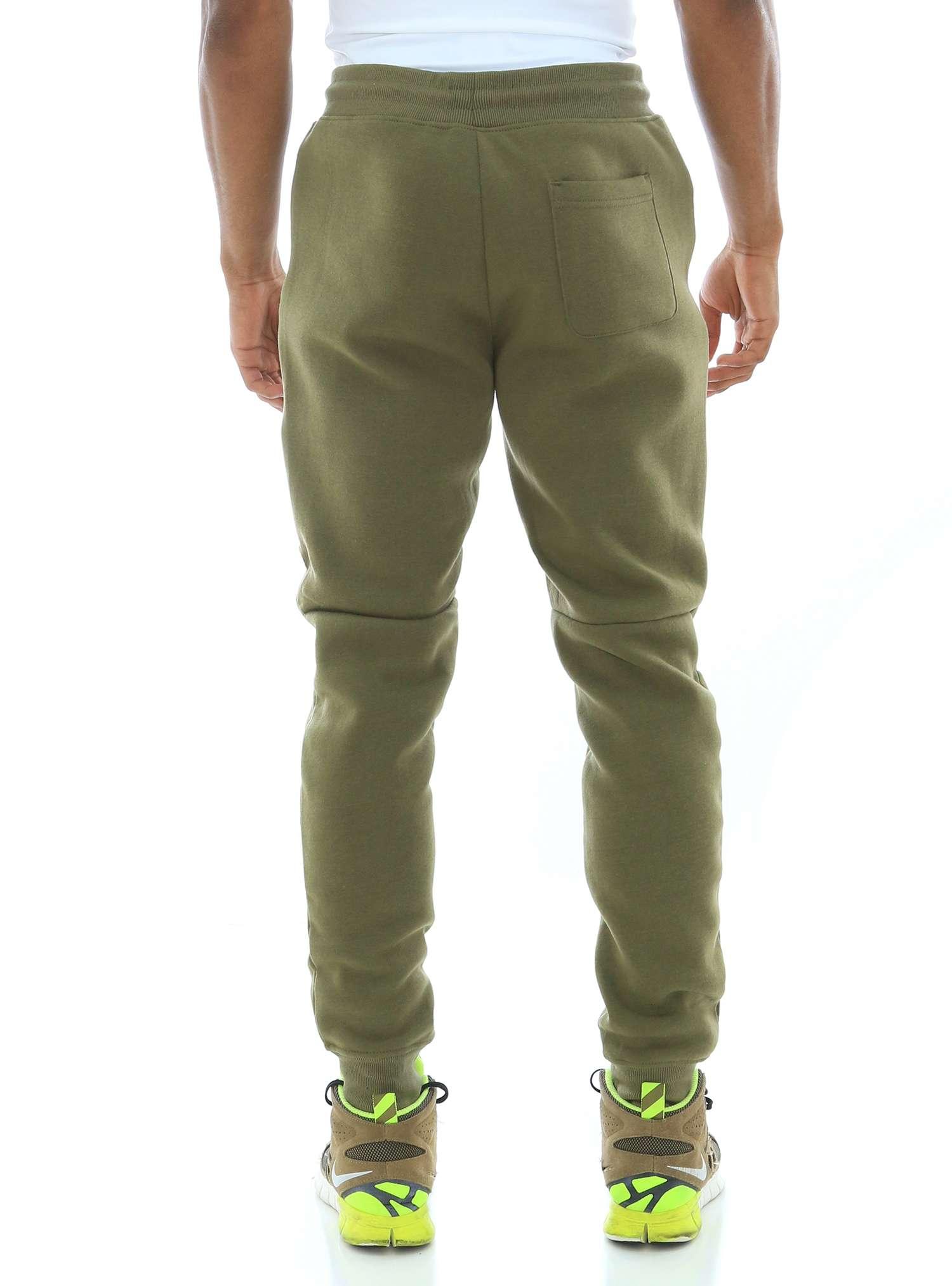 WT02 Men's Fleece Jogger Sweatpants With Bonded Zippers