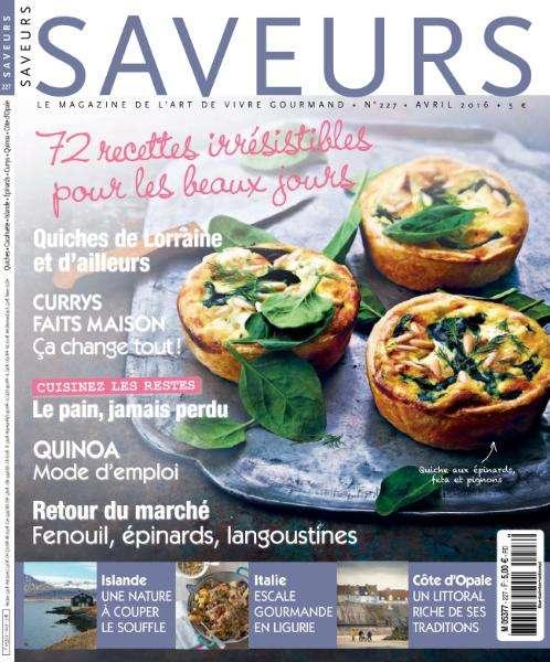 Saveurs 227 - Avril 2016
