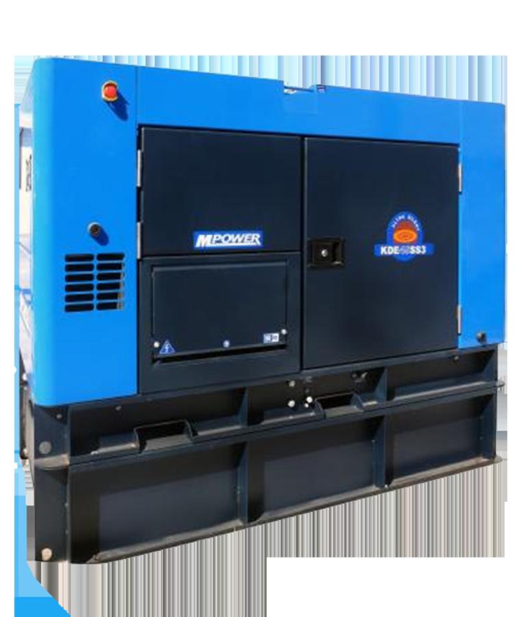 Generador A Diesel 45 Kva Mpower 63hp 127-240v A. Eléctrico