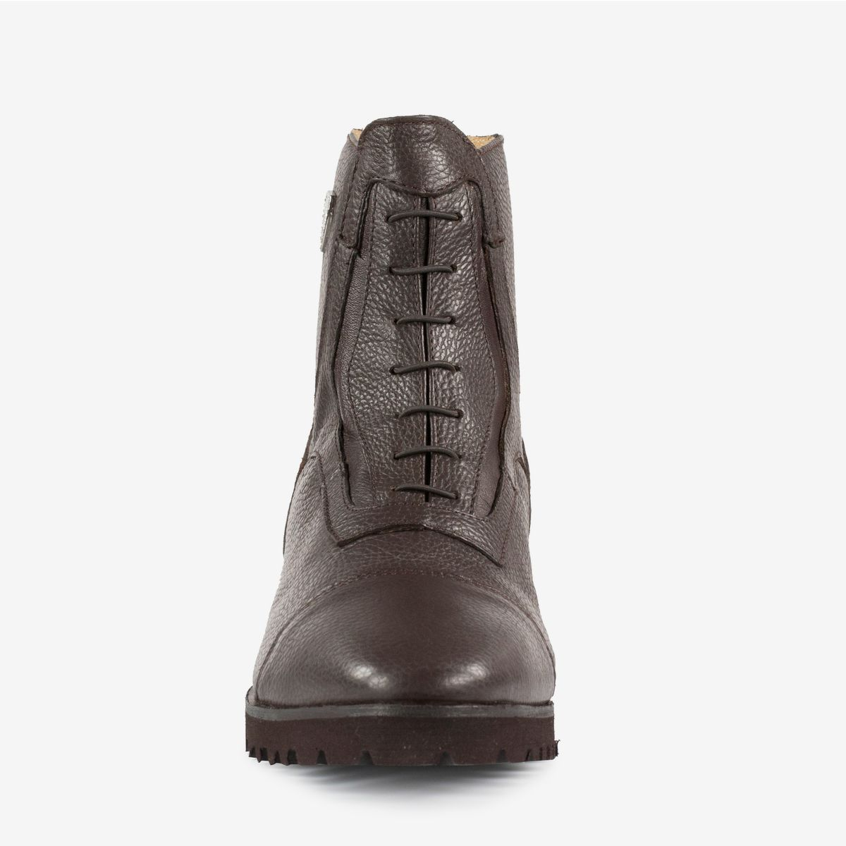 Horze Drew Paddock Riding Boots Soft Leather with Back Zip and Faux Lace Front