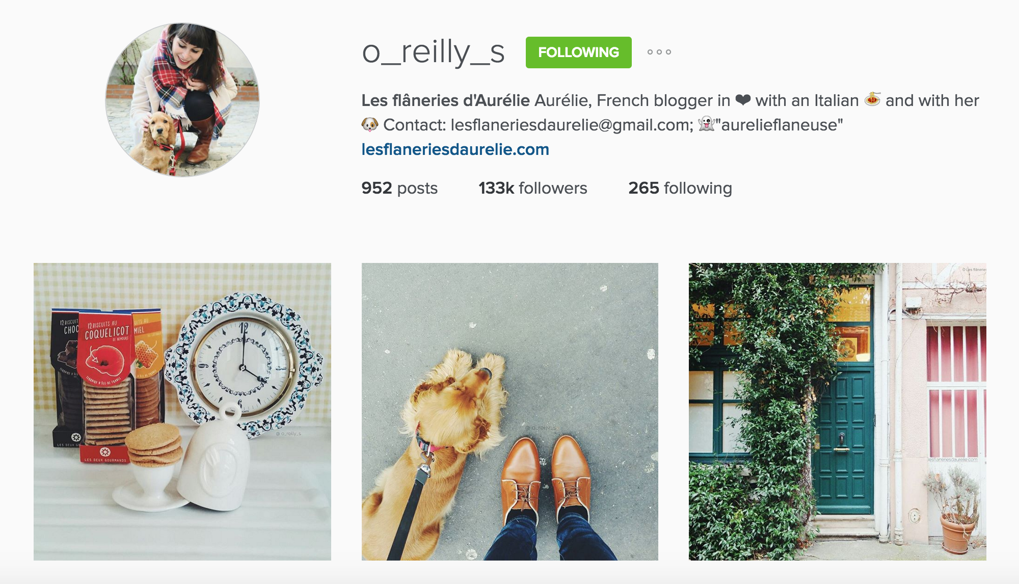 instagram cariboo paris account les flâneries d'aurélie o_reilly_s