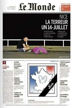 Le Monde du Samedi 15 Juillet 2016