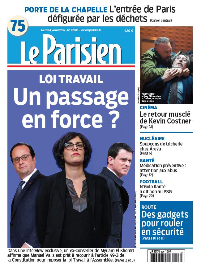 Le Parisien + Journal de Paris du Mercredi 04 Mai 2016