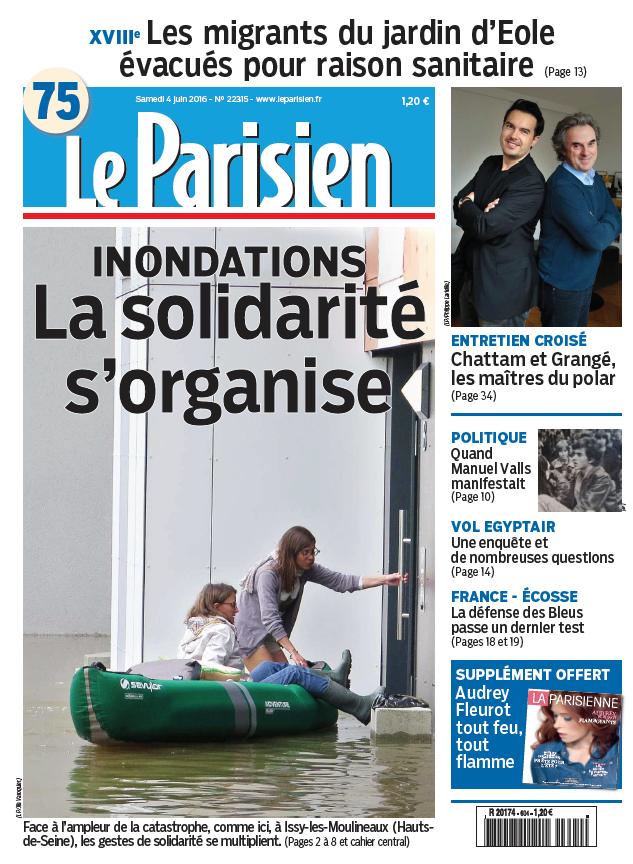 Le Parisien + Journal de Paris du Samedi 04 Juin 2016