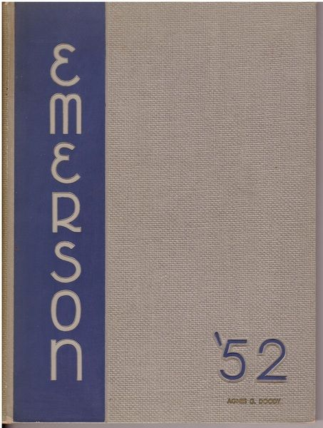 1952 Emerson College Yearbook Emersonian Boston, Staff