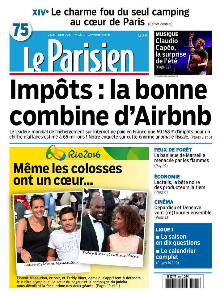 Le Parisien et Journal de Paris du Jeudi 11 Aout 2016