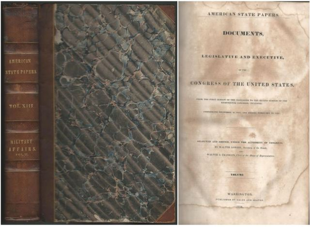 American State Papers 1819-1825 Class V Military Affairs Vol II 1834, Congress