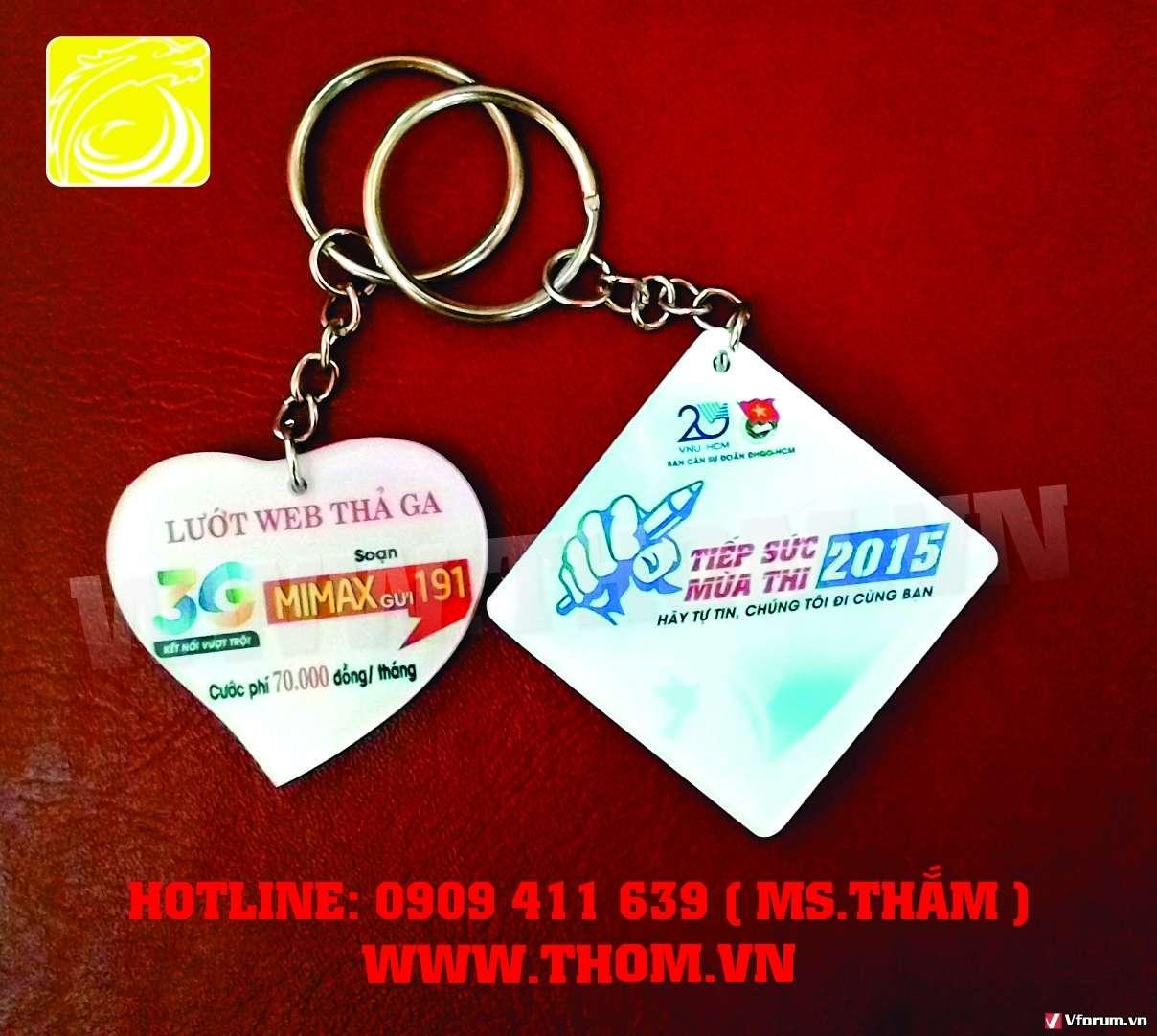 Xưởng chuyên sản xuất móc khóa trường, lớp, làm quà tặng quảng cáo doanh nghiệp giá rẻ 0909411639