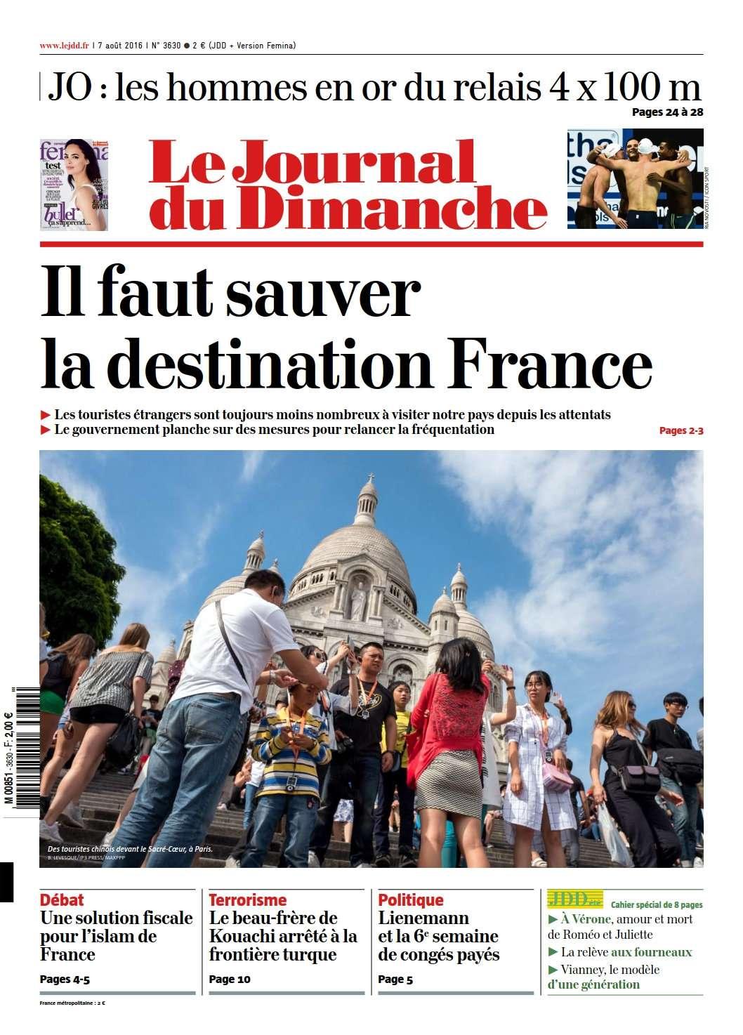 Le Journal du Dimanche 3630 du 7 Août 2016
