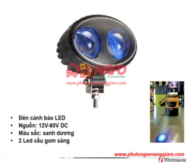 Đèn  cảnh báo 48V-12V-24V, Đèn cảnh báo xe nâng, Đèn pha xe nâng 48V - 7