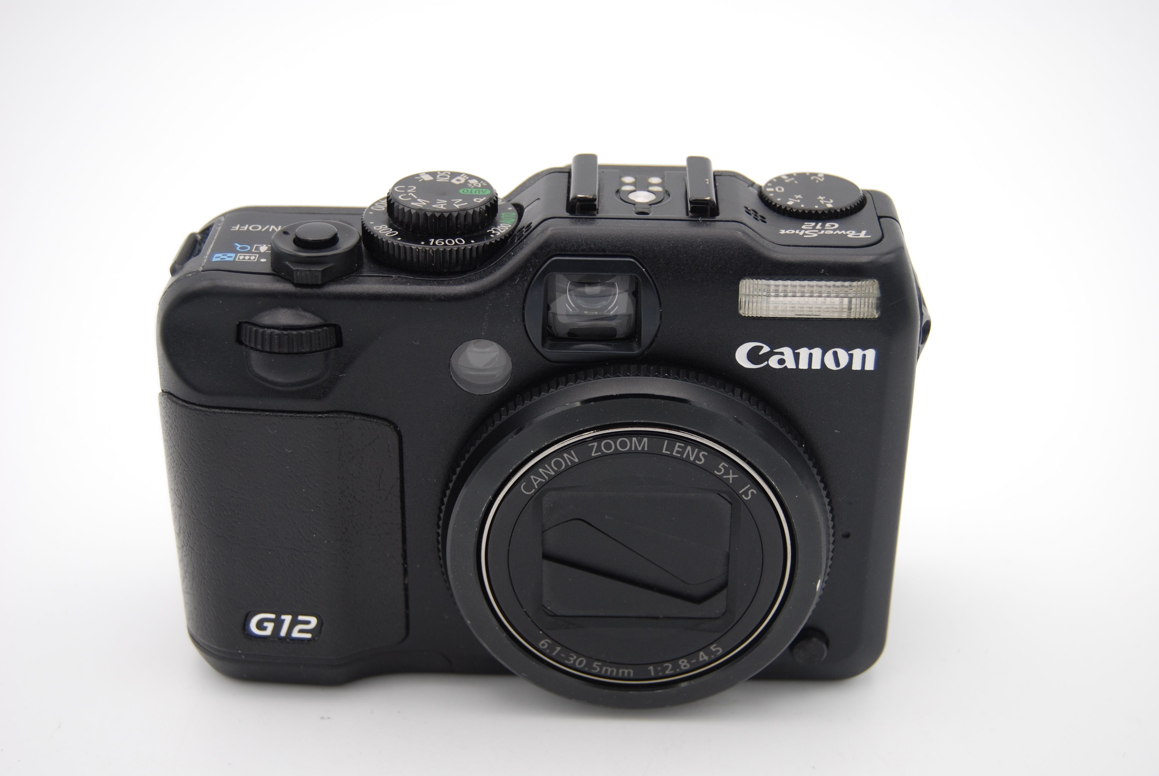 canon powershot g12 10mp 2 8 39 39 screen 5x zoom digital camera w accessories ebay. Black Bedroom Furniture Sets. Home Design Ideas