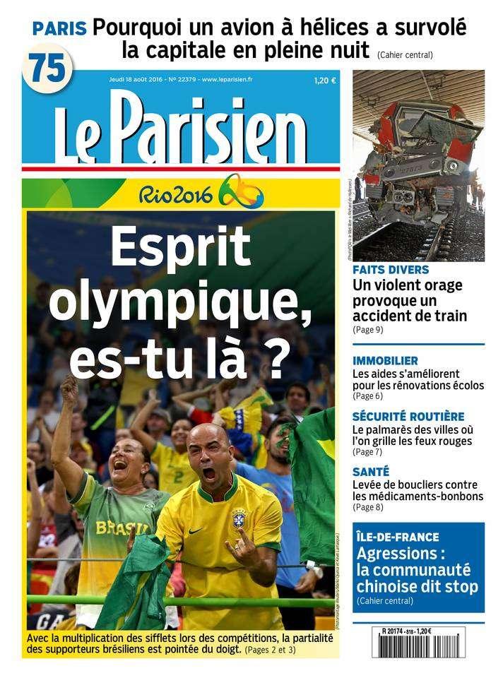 Le Parisien et Journal de Paris du Jeudi 18 Aout 2016