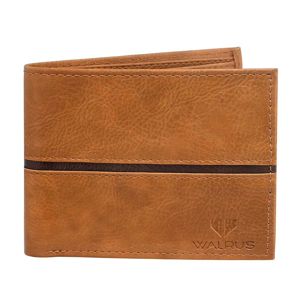 Walrus Diplomet Brown Color Men Leather Wallet- WW-DPT-09