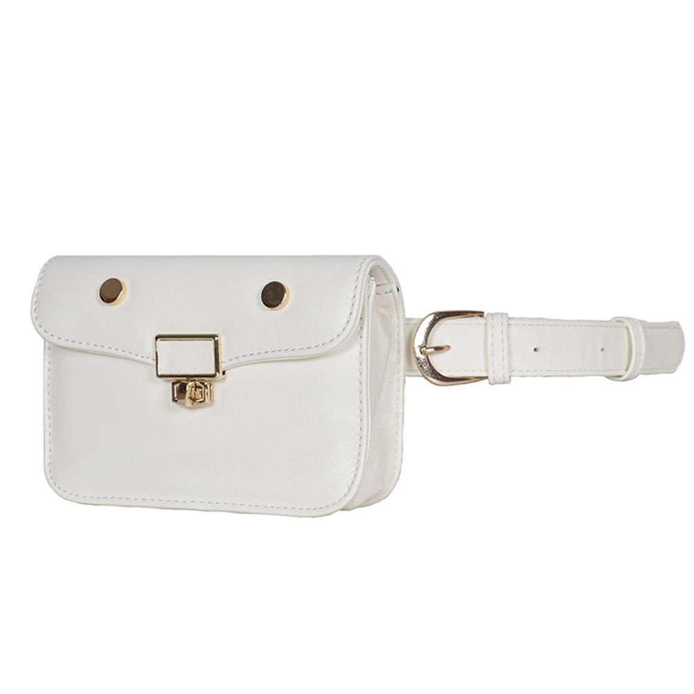 Women Vintage Plain Leather Bumbag Waist Bag Travel Fanny Pack Security Pouch