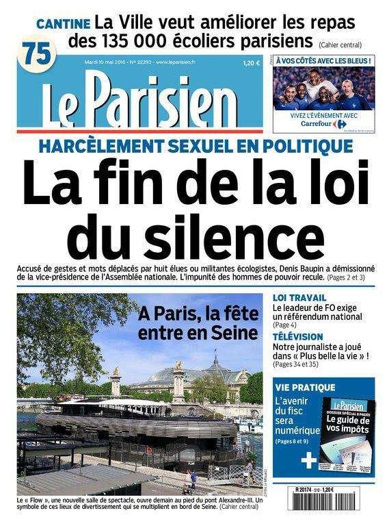 Le Parisien du Mardi 10 Mai 2016