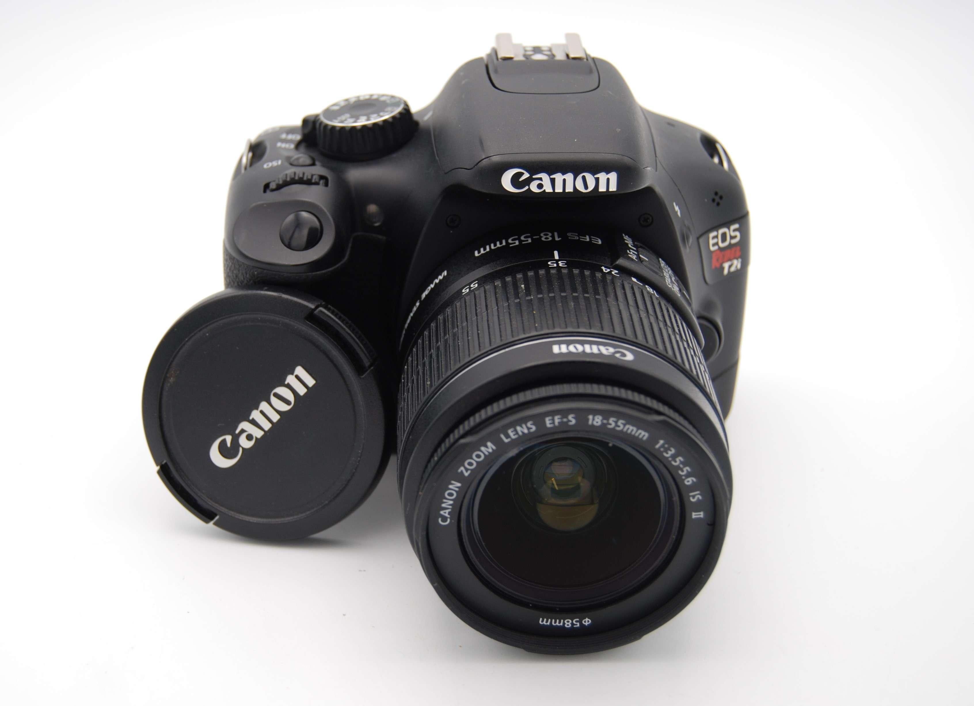 Canon Eos 550d Rebel T2i 18mp Dslr Camera W Ef S 18